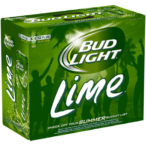 Bud Light Lime Beer, 12 fl oz, 30 pack