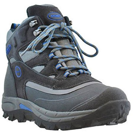 Khombu Men's Fleet Hiker Terrain Weather Rated Winter Boots Snow Grey/Blue (13