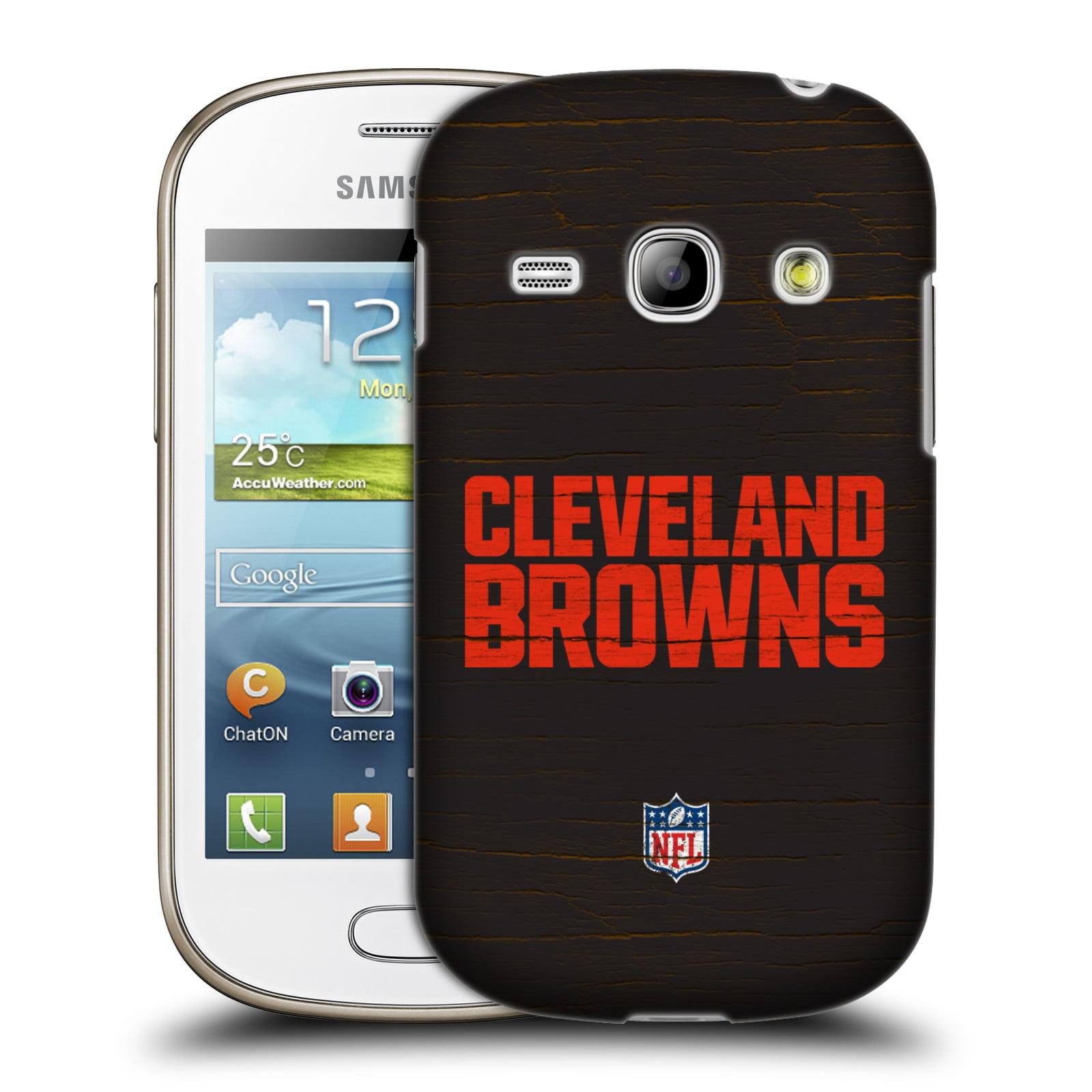 OFFICIAL NFL CLEVELAND BROWNS LOGO HARD BACK CASE FOR SAMSUNG PHONES 5