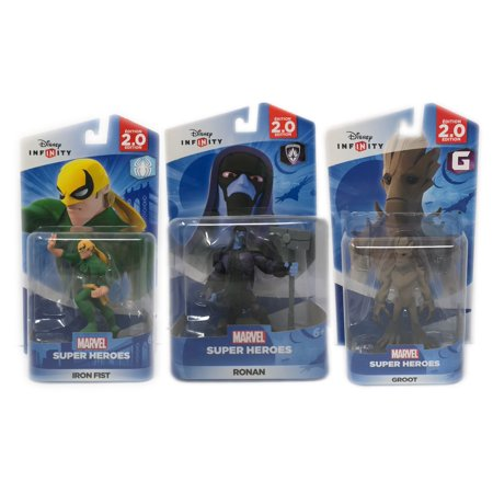 Disney Infinity (2.0 Series) Groot, Ronan & Iron Fist 2.0 Series Guardians Of The Galaxy & Spider-Man Series (Not Machine