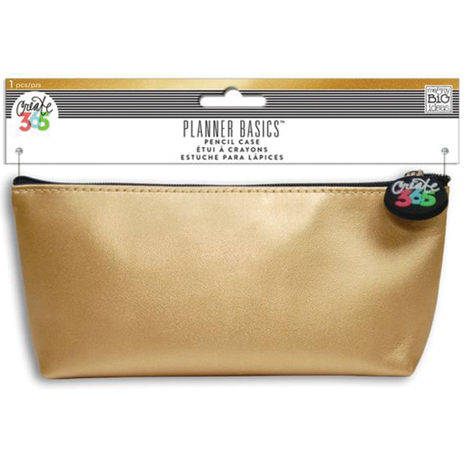 "Create 365 Happy Planner Pencil Pouch 3.5""X8.25""-Gold"