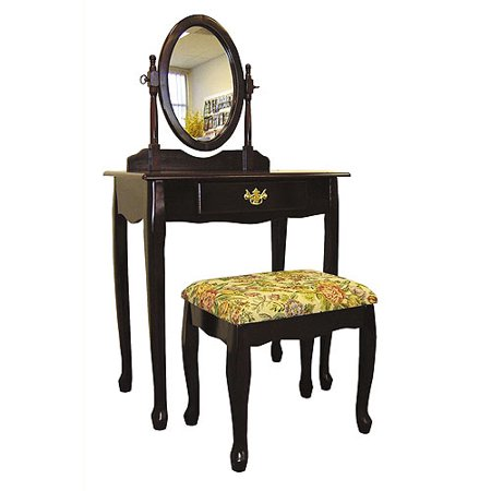 Ore International 3-Piece Bedroom Vanity Set, Cherry