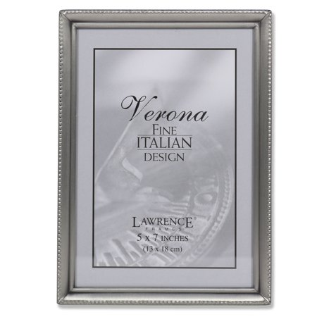 Antique Pewter 5x7 Picture Frame - Bead Border (Love Pewter Frame)