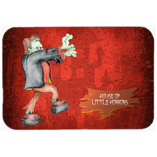 Carolines Treasures SB3007JCMT 36 x 24 in. Little House of Horrors with Frankenstein Halloween Kitchen Or Bath Mat - image 1 of 1