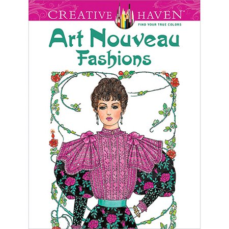 (Dover Publications Creative Haven Art Nouveau Fashions)