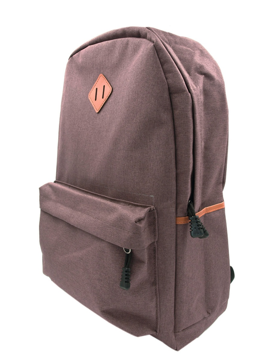Classic Solid Color Canvas Backpack Student School Travel Shoulder Bag by TrendsBlue