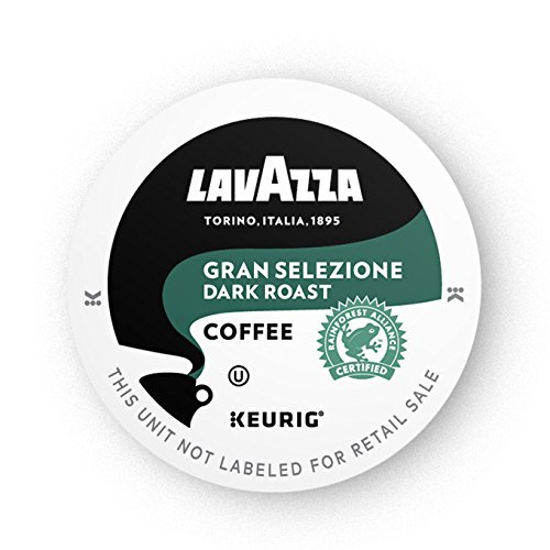 Lavazza Single Serve Coffee K Cups for Keurig Brewer, Dark Roast, Gran Selezione, 10 Count