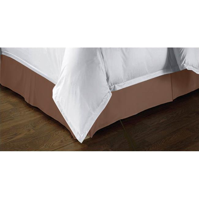 Kashi BS020993 Tailored Bed Skirt Twin Size - Chocolate