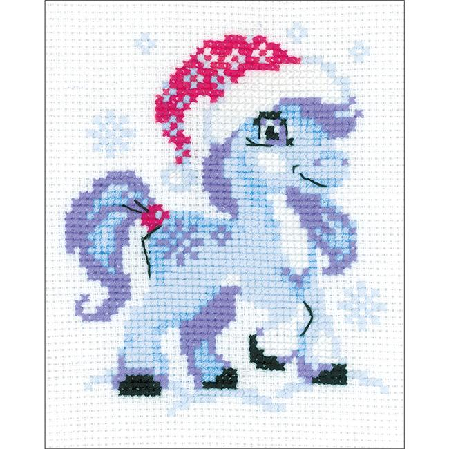 5.25 x 6.5 in. Gentle Snow Counted Cross Stitch Kit - 10 Count