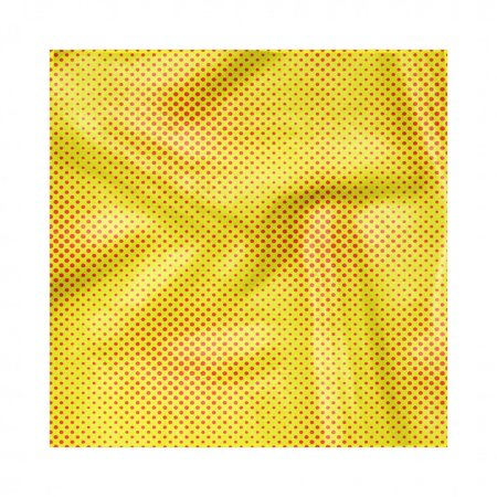 Yellow Polka Dot Napkins (Yellow Polka Dot Napkins Set of 4, Illustration of Graphic Halftone Design in Bicolour Retro Feels, Silky Satin Fabric for Brunch Dinner Buffet Party, by)