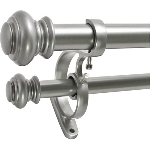 "Decopolitan 1"" Urn Adjustable Double Curtain Rod Set by Beme"