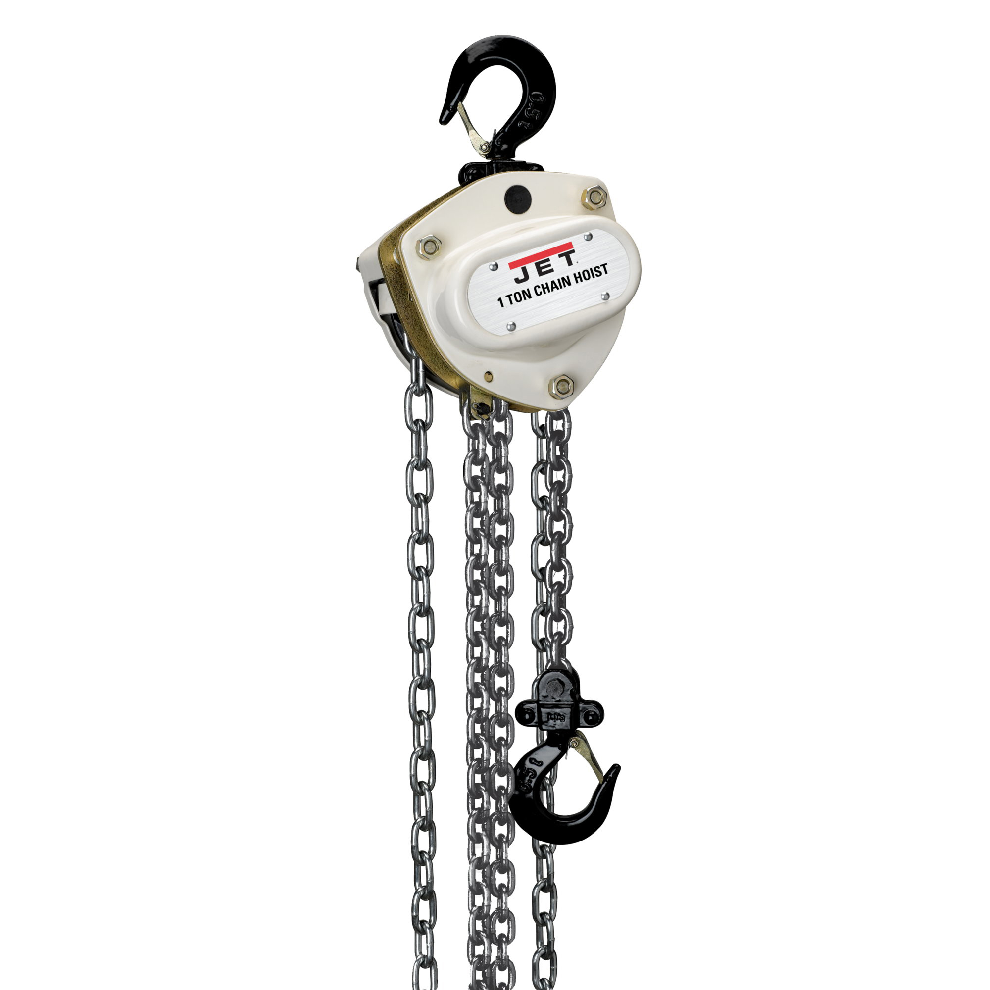 JET L100-100-10 1 Ton Hand Chain Manual Hoist with 10' Lift - 101210