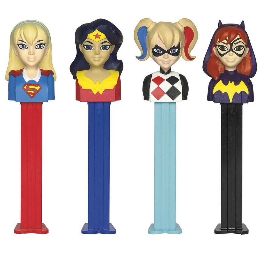 DC SuperHero Girls Pez Dispenser and Candy Set (Each)