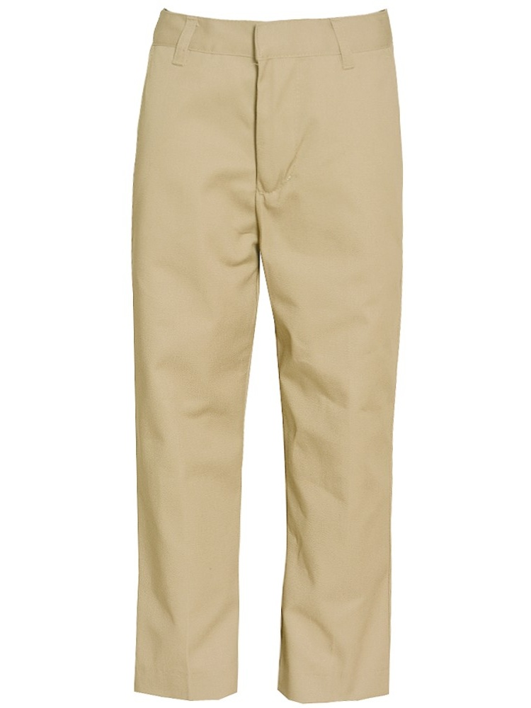 Authentic Galaxy Little Boys Khaki Button Detail School Uniform Pants 4