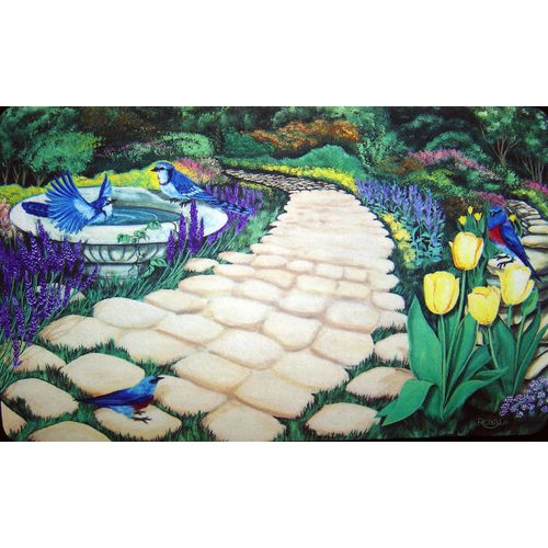 Custom Printed Rugs Garden Path Doormat