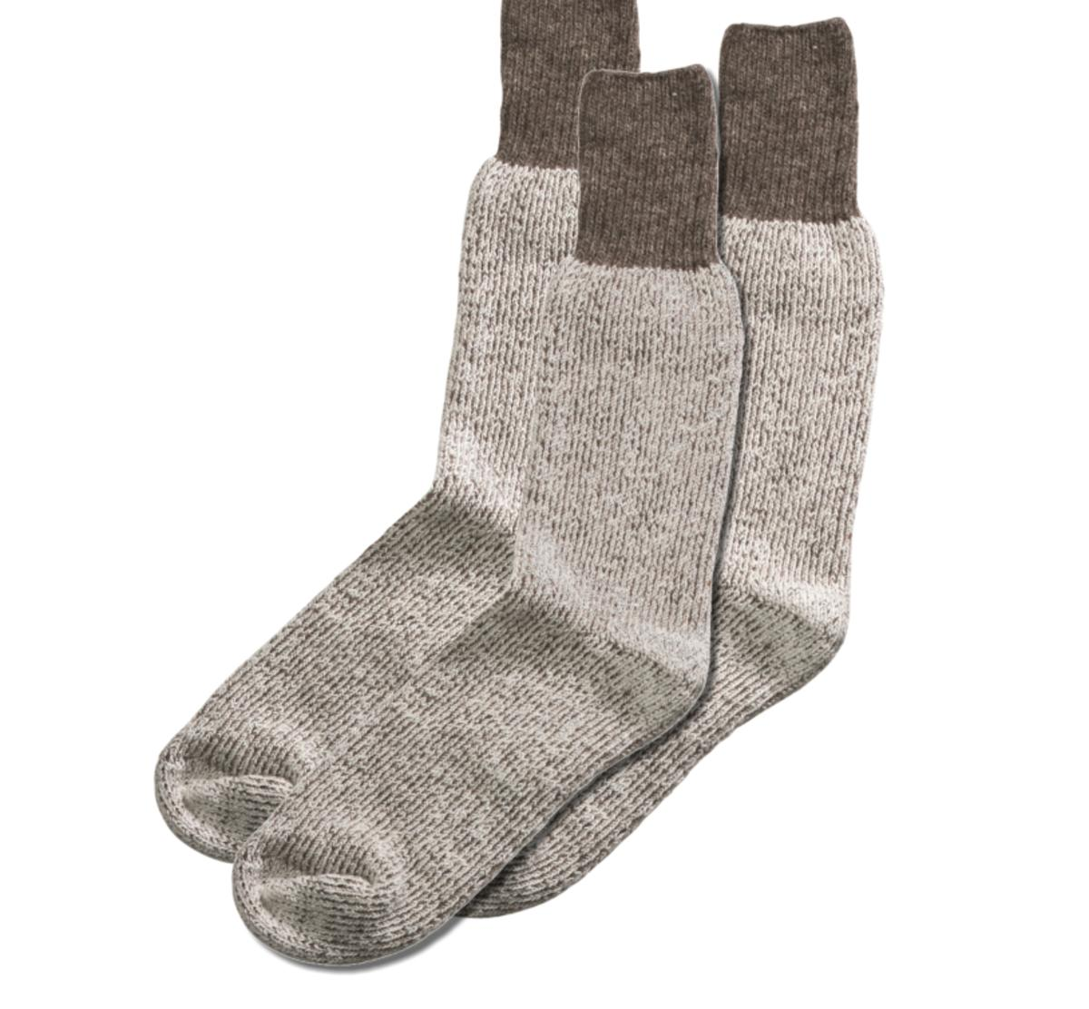 3-Pack of Warm 100% Wool Boot Socks by Huskie, Size 10 - 11.5
