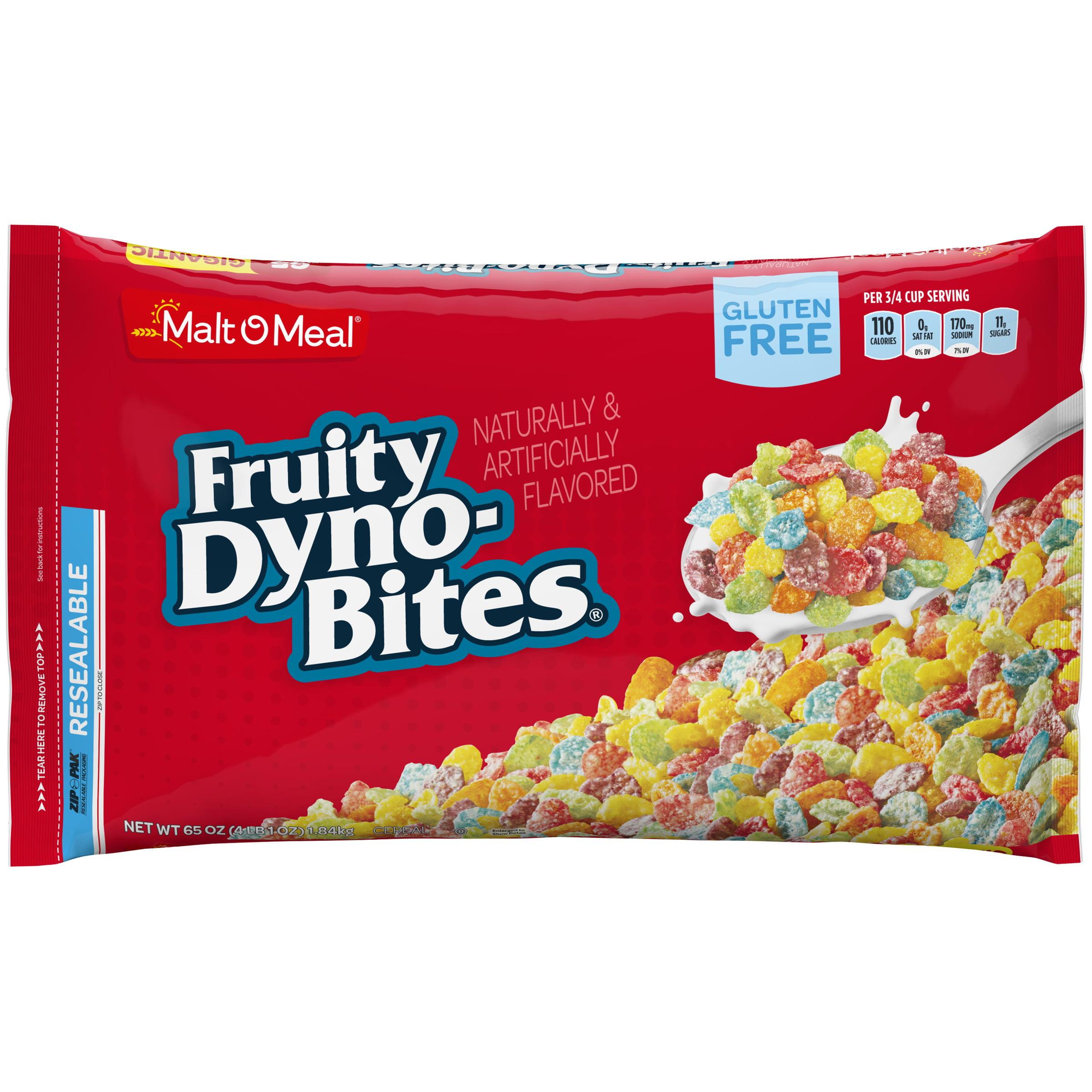 Malt-O-Meal Gluten Free Cereal, Fruity Dyno Bites, 65 Oz