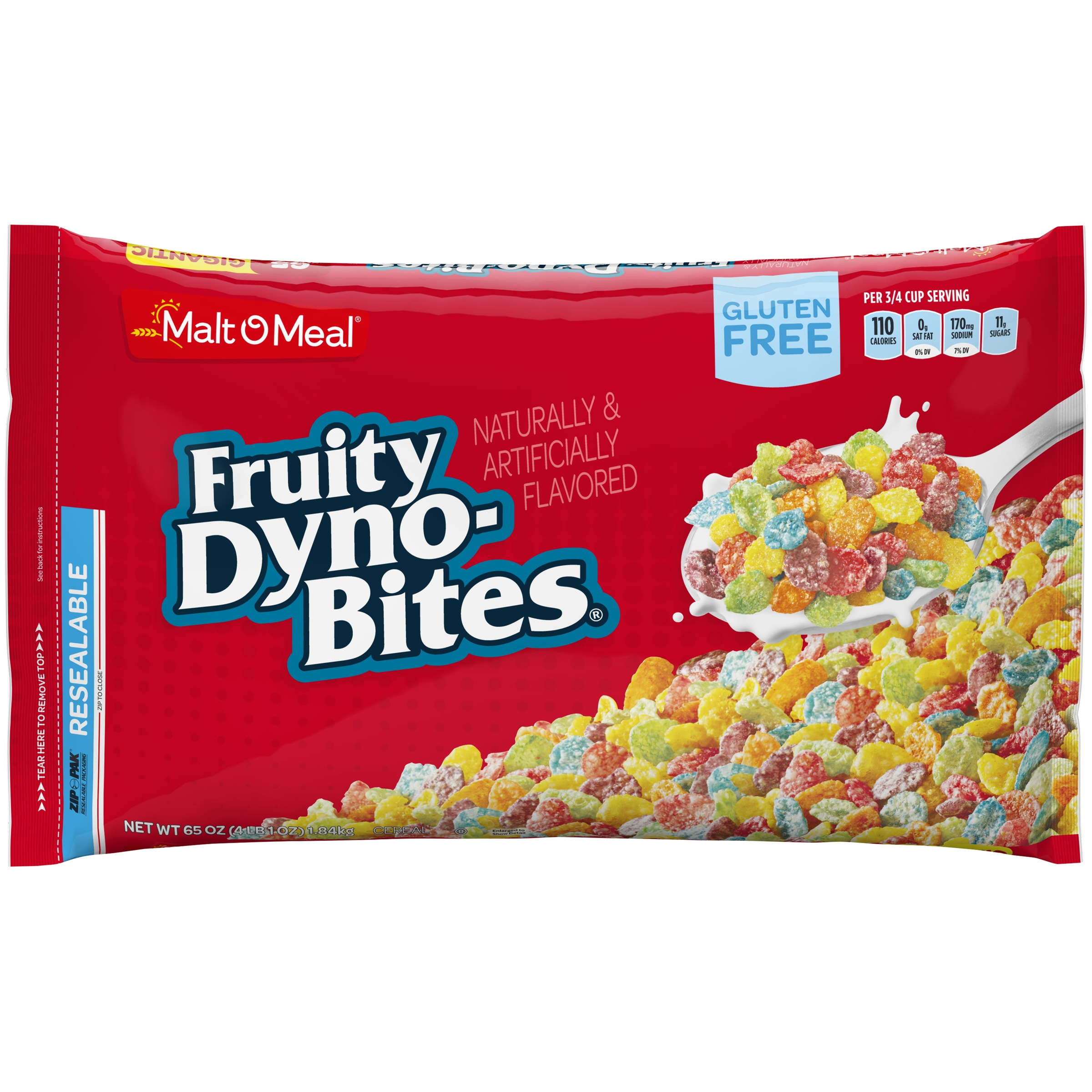 Malt-O-Meal Gluten Free Cereal, Fruity Dyno Bites, 65 Oz, Bag