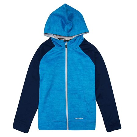 Head Youth Full Zip Jacket with Hood, Blue Heather, Size XS-5/6