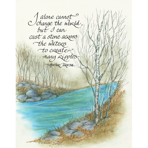 LPG Greetings Life Lines I Alone Cannot Change by Lori Voskuil-Dutter Painting Print Plaque