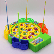 Fishing Game Fish Board Rotating with Music Fine Motor Skill Training Gift