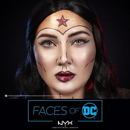 Faces of DC: Wonder Woman Halloween Makeup by @jordanhanz & NYX Professional Makeup