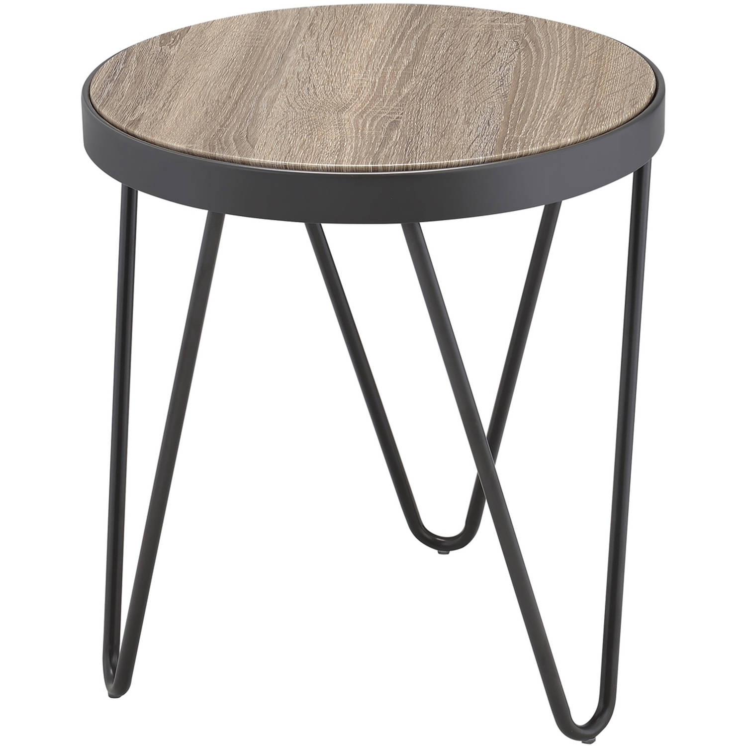ACME Bage End Table, Weathered Gray Oak by Acme Furniture