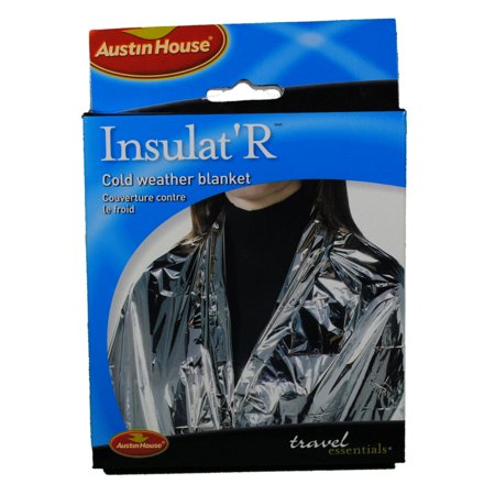Cold Weather Emergency Camping Blanket Foil Austin House Insulat' R Insulated - Halloween Weather Austin