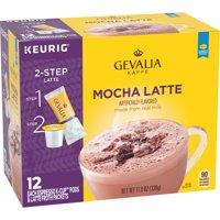 Gevalia Mocha Latte K Cup Espresso Coffee Pods & Latte Froth Packets, 12 ct Box