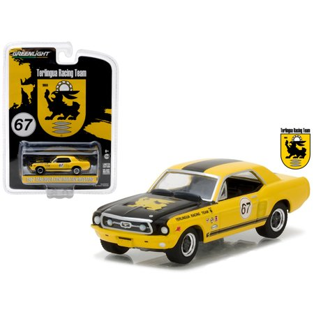 1967 Ford Terlingua Continuation Mustang #67 J. Titus & K. Miles Racing Tribute Hobby Exclusive 1/64 Diecast Greenlight