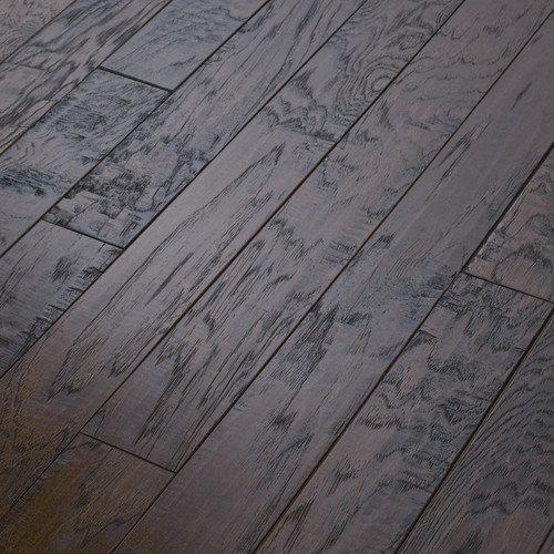 Shaw Floors Epic Pebble Hill 3-1/4'' Engineered Hickory Flooring in Burnt Barnboard