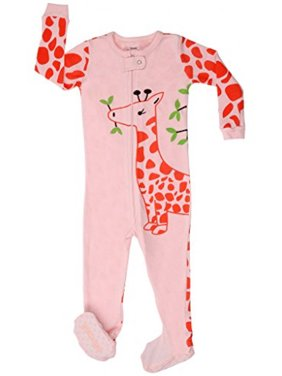 "Elowel Baby Girls footed ""Giraffe"" pajama sleeper 100% cotton 6-12 Months"