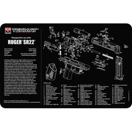 Shooting Mat - TekMat Pistol Mat for Ruger SR22, 11