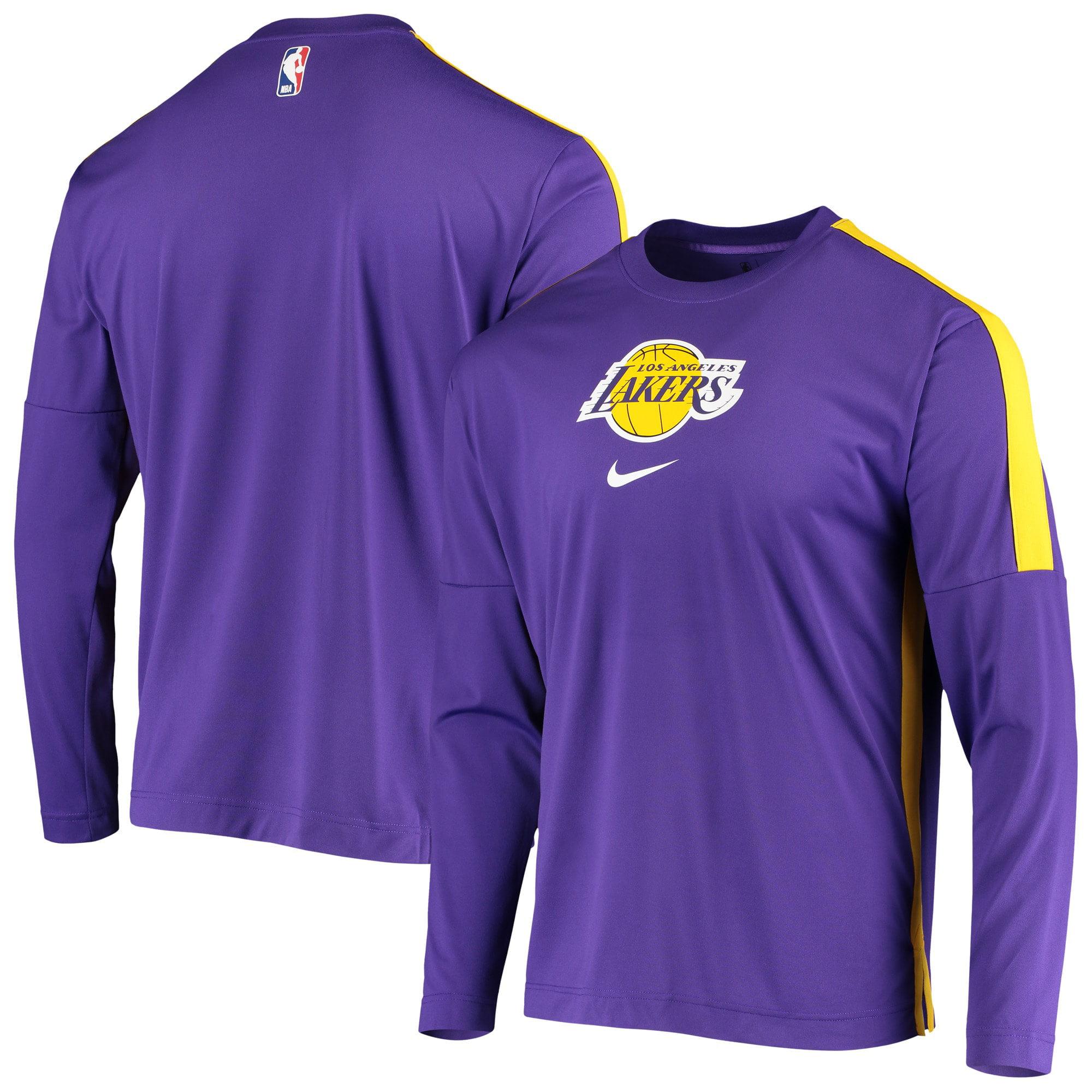 Los Angeles Lakers Nike Long Sleeve Shooting Performance Shirt - Purple