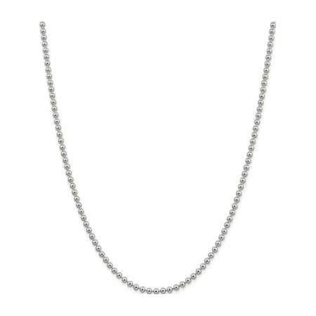 Argent 925 3 mm cha?ne de perles - image 5 de 5