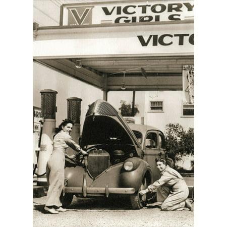 Avanti Press Victory Girls Gas Station America Collection Thank You Card (Gap Press)