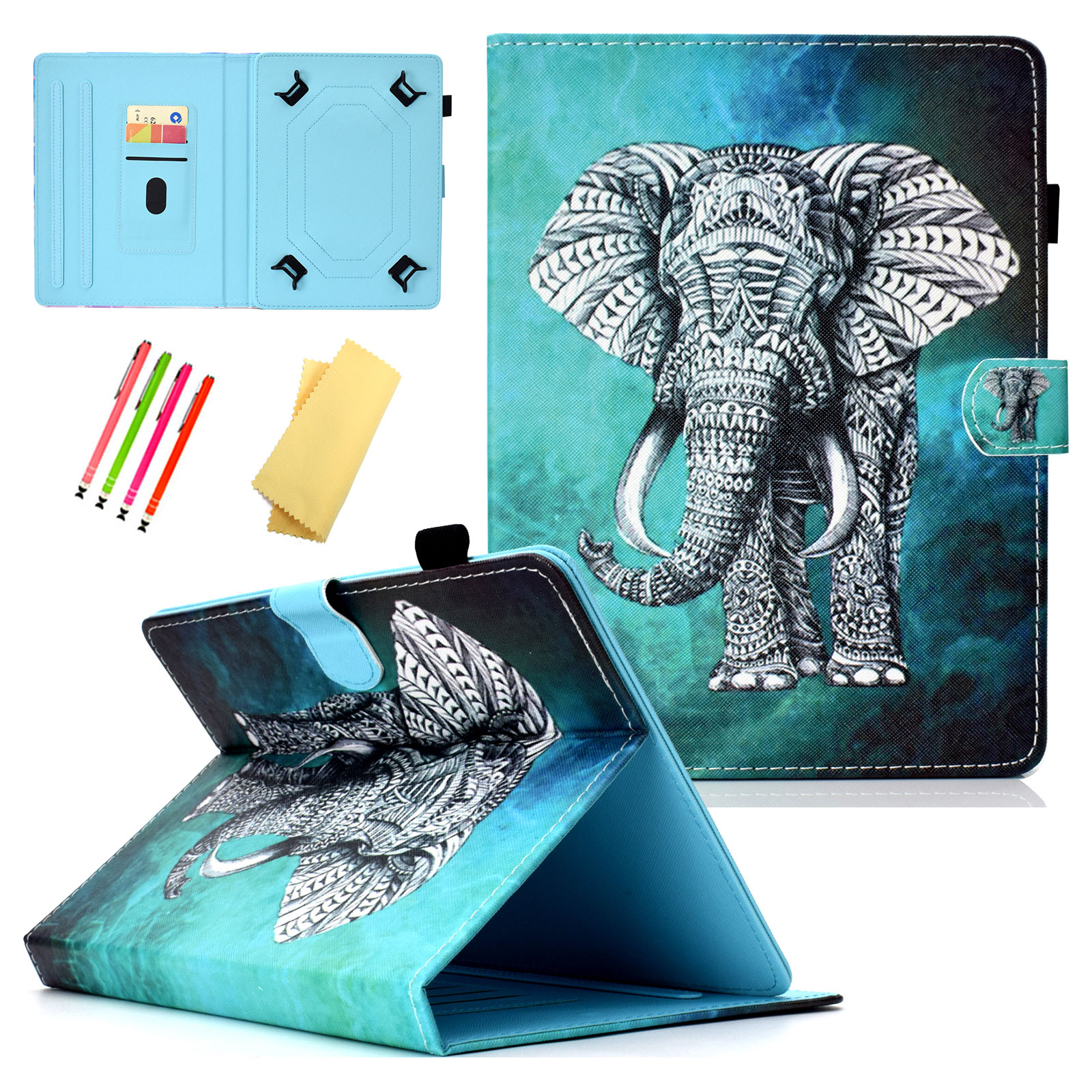 8.0 inch Tablet Case, Goodest Shockproof Kids Universal Stand Case Cover for Apple iPad Mini 1 2 3 4/ Tab A 8.0/ Tab E 8.0/ Fire HD 8/ Kindle Fire 7/ LG G Pad and More All 7.0 to 8.0 inch Tablet