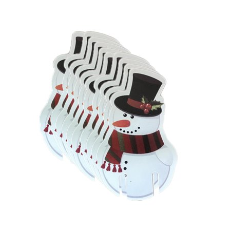 10 Pcs Christmas Santa Claus Hat Red Wine Cup Card Christmas Hat Cup Card - Santa Claus Wife
