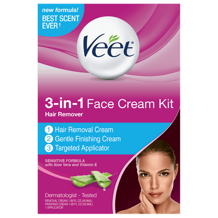 Veet 3-in-1 Face Cream Kit Hair
