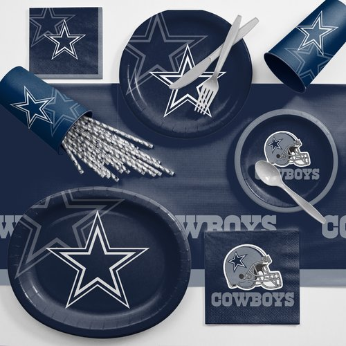 Dallas Cowboys Ultimate Fan Party Supplies Kit