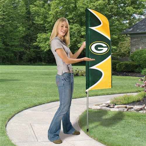 Party Animal SFGB Greenbay Packers Flag And Pole