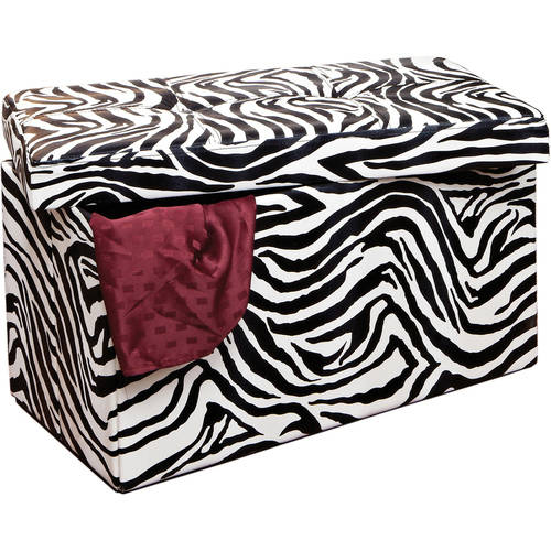 Double Folding Ottoman, Black