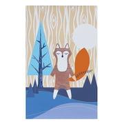 Lolli Living Woods Canvas Art – Fox – Screenprint Wall Art, Sturdy Wood Frame, Easy Installation, Baby Nursery Art Frames, Medium Size