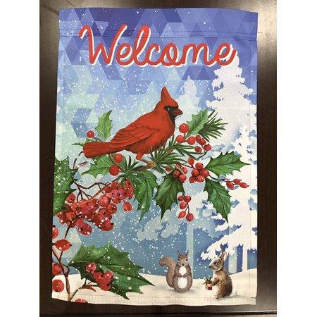 Welcome Winter Christmas Garden Flag - 12