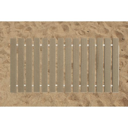 Furniture Barn USA® 4 Ft. Wide Roll-up Beach Walkway EverGrain® Decking - Cape Cod Gray - 10 Ft.
