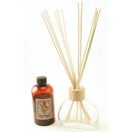 CLEAR 6 Ounce Figi Reed Diffuser  - Courtneys Candles - MAHOGANY TEAKWOOD ()