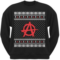 product image anarchy ugly christmas sweater black adult sweatshirt - Cheap Mens Ugly Christmas Sweater