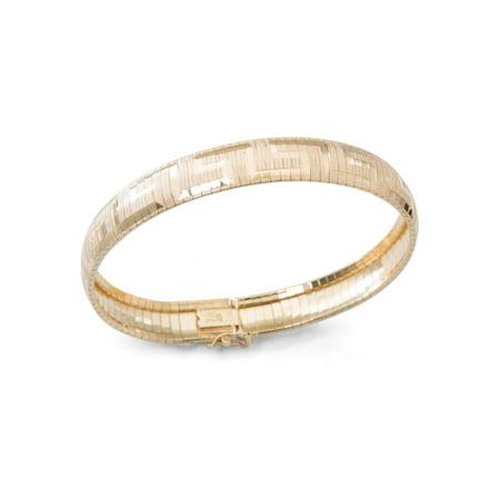 Gold over Sterling Silver Greek Pattern Omega -