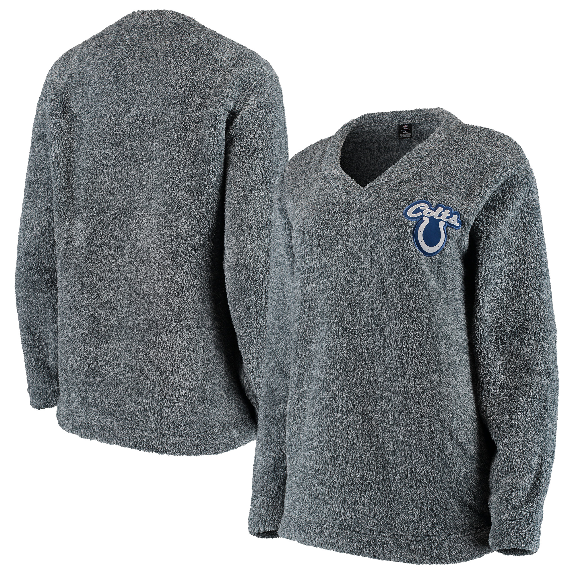 Indianapolis Colts Concepts Sport Women's Trifecta Pullover Sweatshirt - Charcoal