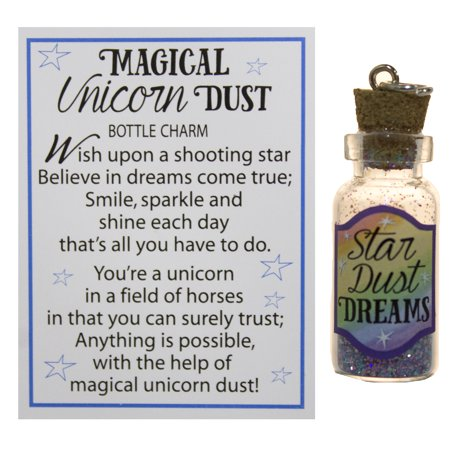 Magical Unicorn Dust 1 5 Inch Bottle Charm With Magic Glitter- Wishes (Star  Dust Dreams)